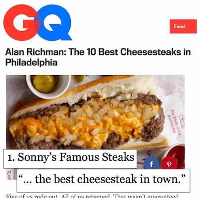 GQ Cheesesteaks - Sonny's