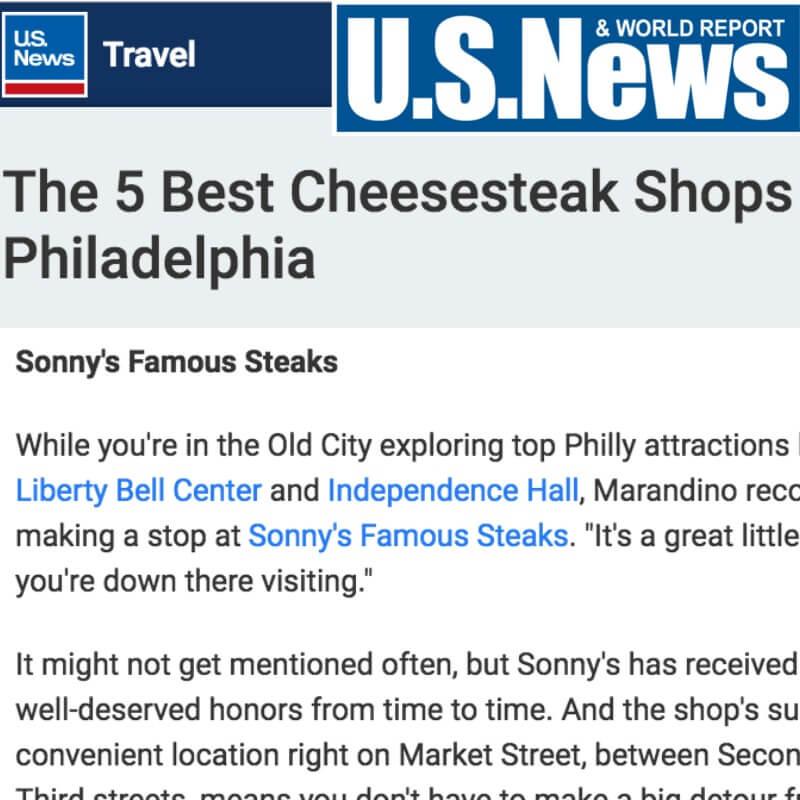 US News Cheesesteaks Sonny's
